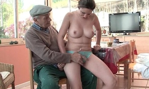 Correct titted french black-hearted gangbanged wits papy voyeur