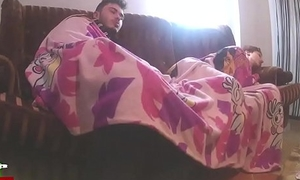 Sex under sheets.Homemade voyeur taped my lay gf with a hidden spycam IV082